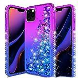 SHRG Adatto per iPhone 11/iPhone 11 PRO/iPhone 11 PRO Max Conchiglia,Glitter Bling Corpo Pieno Custodia Sparkly Luccichio TPU Silicone Protettivo Morbido Brillantini Quicksand,B,iphone11pro