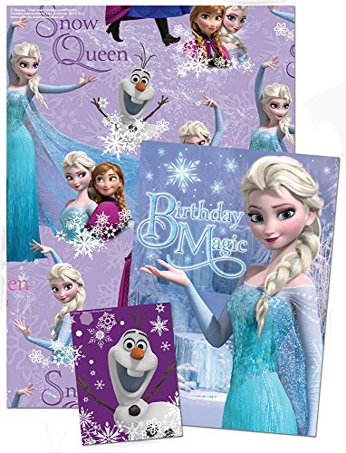 Disney-Frozen-Wrapping-Paper-with-Birthday-Card-and-Gift-Tag