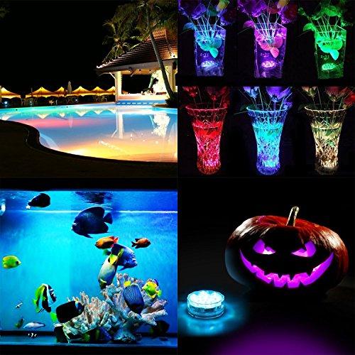MagiDeal RGB LED Unterwasser Lampen Leuchte LED mit Fernbedienung Partei Vase Aquarium Dekor