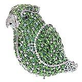 Bonjanvye Crystal Parrot Clutch Purses for Women Evening Bag AB Green