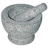 culinario riesen Granit Mörser mit Stößel, Gewürzmörser mit Schlegel