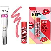 Pond's White Beauty BB+ Fairness Cream 01 Original, 18 g And Lakme Lip Love Chapstick, Spf15, Cherry, 4.5 g