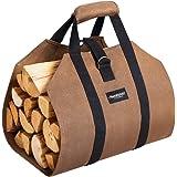 Amagabeli 99x45,7cm Toile Sac à bûche Cheminée Sac de chauffage Imperméable Transporteur de bois extérieur rangement pour le