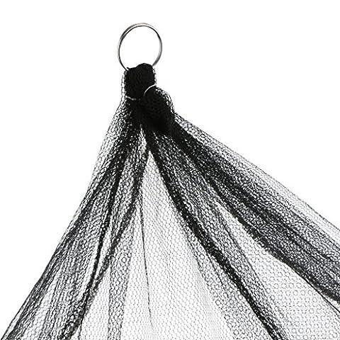 MagiDeal Großes Mückennetz Moskitonetz Runder Ringdurchmesser 65cm Fliegennetz Dekoration für Zimmer - Schwarz - Mit