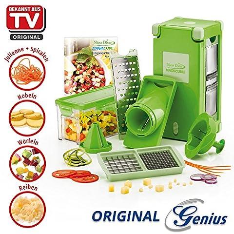 Prix d'action Genius Nicer Dicer Coupe-légumes Magic Cube, Set de 12.–successeur Nicer Dicer Coupe-légumes Fusion–Nouveauté en TV