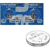 2 x Renata-Batteria per orologio da polso, prodotta in Svizzera, batterie di pile all'ossido di argento, 0% , senza mercurio