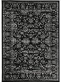 benuta Vintage Teppich im Used-Look Velvet Schwarz 140x200 cm | Moderner Teppich für Schlafzimmer und Wohnzimmer