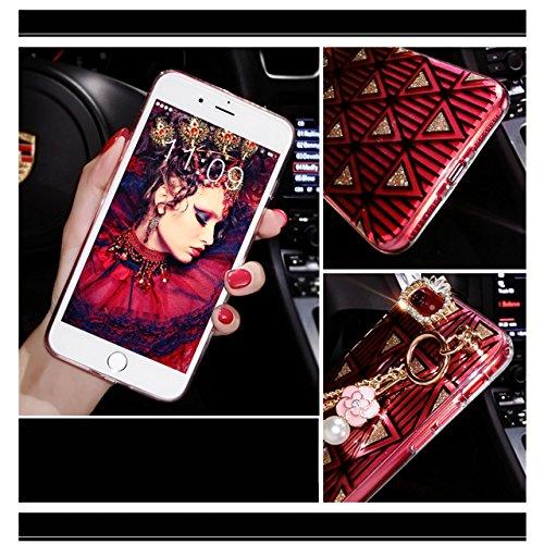 Cover per iPhone 8 Plus, Custodia per iPhone 8 Plus,Bonice Diamante Bling Glitter Lusso Cristallo Strass Morbida Rubber Full body Shock-Absorption Bumper e Anti-Scratch Case Cover Per iPhone 8 Plus 5. Diamond 01