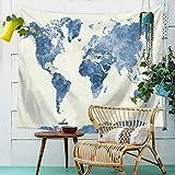Style européen et américain Carte du Monde Multi-Fonction Tapisserie Couverture...