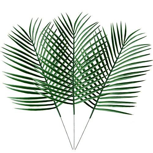 doolland Künstliche Palm Pflanzen Blätter Faux Fake Tropical Große Palme, bleibt Nachahmung Blatt Künstliche Pflanzen für Home Kitchen Party Blumen Arrangement Hochzeit Dekorationen..., plastik, 3 Stück, Einheitsgröße