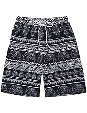 HAIYOUVK Casual Men'S Beach Shorts Loose Large Size Stripe Five Spa Holiday Beach Shorts,Xxxl,Black Baby Elephant...