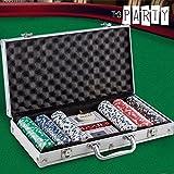 Th3 Party - Jeu de Poker avec Mallette Luxe Th3 Party (300 jetons)