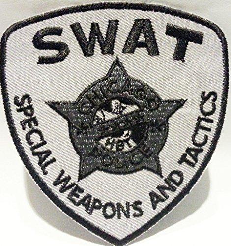 Bügel Iron on Aufnäher Patches Flicken Sticker Aufbügler Bügelbilder Applikation Kleidung Stoff Textilien Militär Polizei SWAT 8 x 8 cm