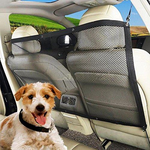 YETE Tragbares Auto-Schutzgitter für Haustiere/Kinder, mit Isolierung und Netzstoff, hält Hunde während der Fahrt fern -