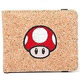 Nintendo Brieftasche Super Mario Mushroom Cork effect offiziell Braun Bifold