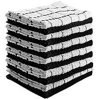 Serviettes de cuisine - torchons (paquet de 12, 38 x 64 cm) Pure Cotton - Lavable en machine par Utopia Towels