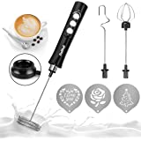 Dallfoll Elektrische melkopschuimer, USB-oplaadbaar melkopschuimer, 3-in-1 melkopschuimer, elektrisch voor koffie/latte/cappu
