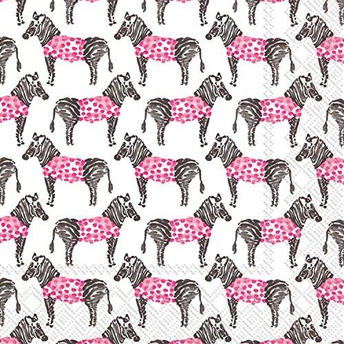 ideale-gamma-l706900-rosanne-beck-20-tovaglioli-di-carta-zebra-rosa