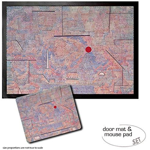 Set: 1 Fußmatte Türmatte (70x50 cm) + 1 Mauspad (23x19 cm) - Paul Klee, Das Licht und Etliches, 1931