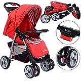 Safeplus Kinderwagen Buggy Sportwagen Reisebuggy Spazierwagen Kinderbuggy Babywagen klappbar rot