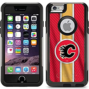 Coveroo Commuter Series Cell Phone Case for iPhone 6 - Retail Packaging - Calgary Flames Jersey Stripe