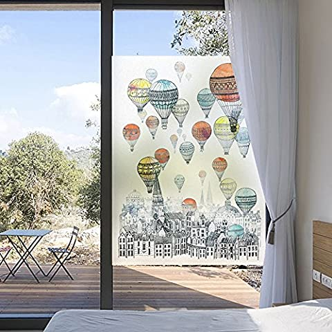 Frosted Glass Attached To Living Room Bedroom Window Bathroom Light Opaque Non Adhesive Glass Stickers Shading Windows Film,Width80Cm*High120Cm