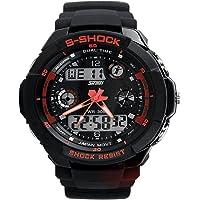 Nimble House Rubber Watchsshockred Wristband, Medium (Black)