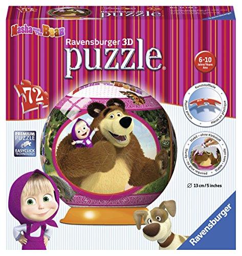 Ravensburger 12178 - Masha e Orso Puzzle 3D Ball
