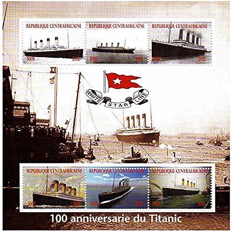 Sellos Titanic - sheetlet sello celebrando el RMS Titanic - Casa de la Moneda y sheetlet sello sin montar con 6 sellos