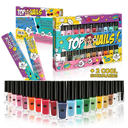 20 Esmalte De Uñas Conjunto 20 Colores Diferentes Caja De Lujo 2 Marcapáginas