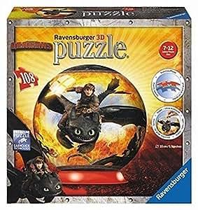 Ravensburger 12262 - Puzzle 3d - Dragons 2 - 108 Pièces