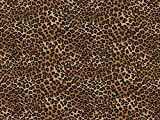 Timeless Treasures Tiny Leopard Popeline Quilting Stoff Tan – Pro Fat Quarter + Frei Minerva Crafts Craft Guide