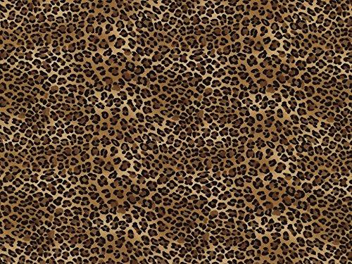Timeless Treasures petits Coupons de tissu en popeline Leopard Marron Clair – Par Fat Quarter + sans Minerva Crafts Craft Guide