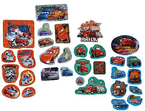 Unbekannt 1* 7 TLG. Set 3-D Pop Up - Sticker / Aufkleber - Disney Cars Lightning McQueen - Kinder Kind z.B. für Stickeralbum Kartensticker Stickerset Auto Abwischbar Pl.. (3d Mcqueen Lightning)