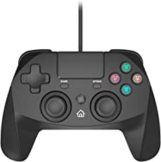 Snakebyte Game:Pad 4 S for PlayStation 4 and PlayStation 3 - Wired PS4 & PS3 Gamepad Controller with 3 meter Cable (Black)
