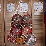 Hua yang| 115cm multifunción bolsa de red de almacenamiento de pelotas de deporte cierre de cordón malla Carry Net para baloncesto fútbol nuevo