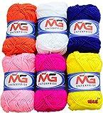 #8: M.G Enterprise Wool ball MIX 2 hand knitting Art Craft soft fingering crochet hook yarn, needle knitting thread dyed 3 for Wool ball hand knitting Art Craft soft fingering crochet hook yarn, needle knitting thread dyed Pack of 6