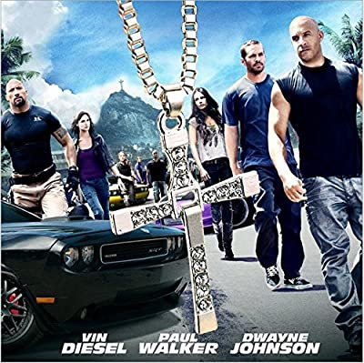 Lemonc The fast and the furious cross necklace pendant