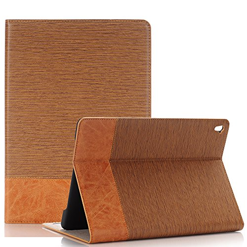 iPad Pro Book Cover case,TechCode Luxury Book Style Folio Case Cover Stand Magnetic PU Leather with Smart Auto Sleep/Wake Feature Case Cover for Apple iPad Pro 12.9 inch Test