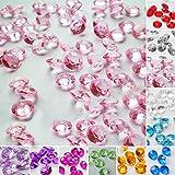 TtS 5000 Mixed Diamanten Dekosteine Acryl Kristalle Streuteile Tischdeko Hochzeit
