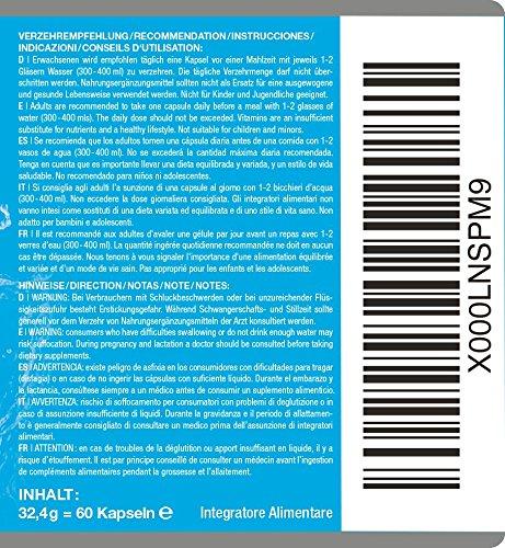 Hyaluronsäure hochdosiert 200mg + Coenzym Q10 100mg pro vegane Kapseln 2 Monatskur, HOHE Bioverfügbarkeit Micro-Molecular von 500-700 kDa Qualitätsprodukt-Made-in-Germany - 7