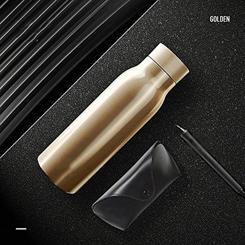 Matrix-trinken (Glas Wasser intelligente erinnert zu trinken Wasser Wärmedämmung Notebook Multifunktion Gesundheit Sport Cup Cup Wasserkocher angebracht Goldfarben)