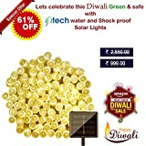 #3: IFITech 100 LED Solar String Lights, 39-Feet, Warm White - With 1 year warranty