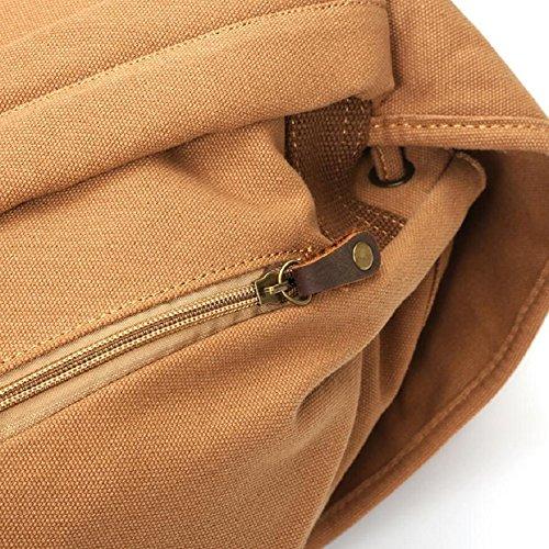 LJ&L Outdoor einfache Leinwand Rucksack, Männer und Frauen gemeinsame Schultertasche, Outdoor Camping Wandern Wanderrucksack A