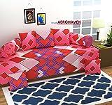 #9: Aerohaven 3D TC Printed 8Pc Diwan Set(1 Single Bedsheet, 2 Bolster Covers, 5 Cushion Covers)