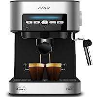Cecotec Macchina da caffè Power Espresso 20 Matic. Capàcità 1,5 L, 20 bar, interfaccia intuitiva, doppia uscita…