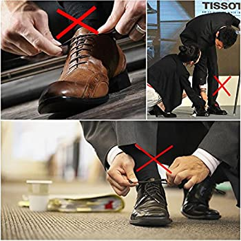 Elastic Laces For Adults Business Men Leather Shoes By Coolnice® 10pcswaterproof Silicon Flat Elastic Shoelaces -Long Lasting Colour - Black 30mm 2