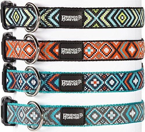 Unbekannt Friends Forever Hund Halsband für Hunde-Fashion Gewebte Quadratisch Muster Cute Puppy Kragen, erhältlich in Größe S/M/L, Large 18-26