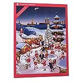 FC Bayern München Comic XXL Adventskalender gefüllt mit Autogrammkarten der FCB Stars und Vollmilch-Schokoladen Täfelchen
