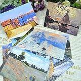 Calli Weinlese 30pcs Künstler Monet Ã-l Bedrucken von Postkarten Grußkarten